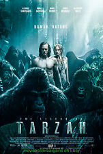 THE LEGEND OF TARZAN MOVIE POSTER Original DS 27x40 Final MARGOT ROBBIE 2016