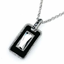 PENDANT NECKLACE CRYSTAL PENDENT & SILVER CHAIN