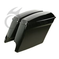 ABS Hard Extended Stretched Saddlebags For Harley Road King Street Glide 14-16