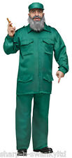 Mens Fidel Castro Cuban Dictator Army Military Fancy Dress Costume Outfit