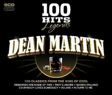 Dean Martin LEGENDS 100 HITS Best Of ORIGINAL RECORDINGS New Sealed 5 CD Box Set