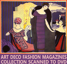 ☆ Gazette Du Bon Ton ☆ Art Deco Fashion Design Mag. ☆10 Volumes Scans on Disc ☆