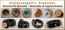 Bracciale Paracord Kit Sopravvivenza - Survival Kit Bracelet