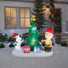 PEANUTS SNOOPY CHARLIE BROWN CHRISTMAS TREE SCENE AIRBLOWN YARD INFLATABLE 6 FT