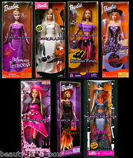 Boo-tiful Barbie Doll Halloween Princess Fortune Teller Trick or Chic Glow Lot 7