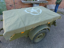 Canvas Abdeckung Persenning US Willys Jeep Bantam Trailer Cover Anhänger Plane