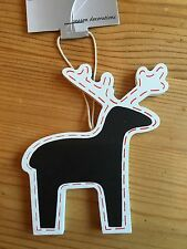 Christmas Decorations Chalk Board Reindeer Black White Red