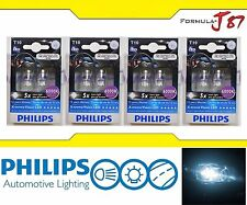 Philips X-Treme Vision LED 194 168 T10 White 6000K 1W Eight Bulbs Replacement