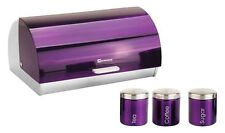 SQ Professional Gems Metallic Bread Bin and Canisters Storage Jars Food Storage