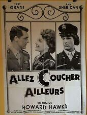 affiche ALLEZ COUCHER AILLEURS. 120 x 160 cms. Howard Hawks, Cary Grant
