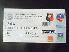 Tickets- 2005/06 Football Championship of France- RENNES VS. PSG, 3 May 2006