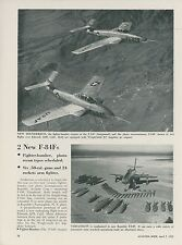 1952 Aviation Article New Versions of Republic Aviation F-84 Thunderjet Fighter