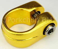 """Old school Suntour style BMX bicycle seat clamp 25.4mm (1"""") - GOLD ANODIZED"""