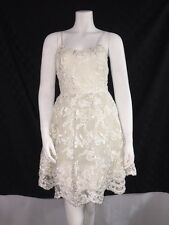 Alice & Olivia Dress Flare embroidered tulle Flare Party Wedding Size 2