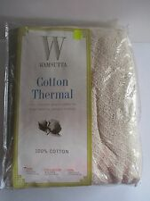 VINTAGE WAMSUTTA COTTON THERMAL BLANKET TWIN SIZE NEW IN BAG  66 X 90