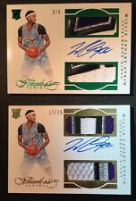 2015-16 Flawless Willie Cauley Stein Rookie Auto Dual Patch Lot Of 2- /5 /25 RC