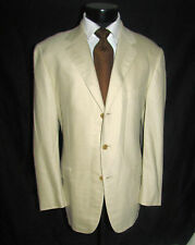 Caruso Superfine Cloth three Buttons Side Vents Beige Men Jacket 42 R Italy