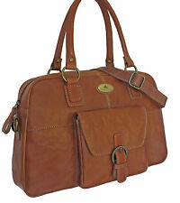 52% Off Rowallan Women's Tan Leather Shoulder Bag, Large