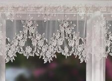 "Heritage lace Tea Rose pattern Valance- 60""x17"" drop, Floral-Petal"