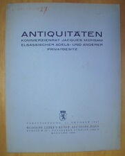 CATALOGUE DE VENTE MOBILIER TABLEAUX MUHSAM ADELS ANTIQUITATEN BERLIN 1984