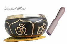 "4"" Relaxing Yoga Meditation Om Peace Singing Bowl, Handmake Nepal by thamel Mart"