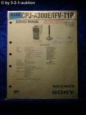 Sony Service Manual CPJ A300E /IFV T1P LCD Projector (#6345)
