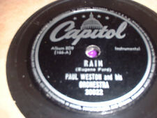 78RPM 2 Capitol by Paul Weston, Rain,Dont Blame Me,If I Love Again,U Came Al E-