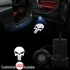 2x Car Door Punisher Skull Logo LED Welcome Laser Projector Ghost Shadow Light
