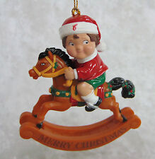 NEW Campbells Soup Kids CHRISTMAS TREE ORNAMENT Boy On Toy Rocking Horse NIB!