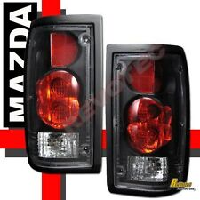 86-93 Mazda B2000 B2200 B2600 Pickup Black Tail Lights Lamps 1 Pair 89 90 91 92