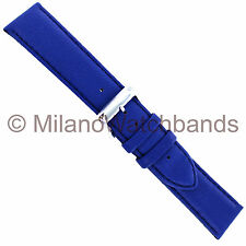 20mm Speidel Soft Touch Blue Padded Stitched Genuine Leather Watch Band 5033 730