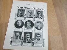 Famous FULL BACKS Season 1905 - 06 Original Book of FOOTBALL Players H/S Picture