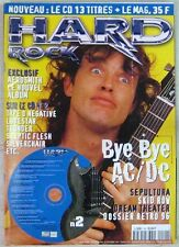 Revue Hard Rock Février 1997 AC/DC Sepultura Aerosmith Skid Row Dream Theater