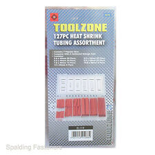 Toolzone Assorted 127 Piece Heat Shrink Tube Pack In Plastic Clip Case