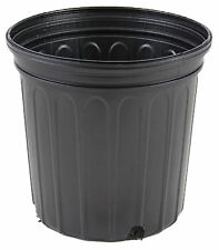 1 Gallon Trade Black Nursery Flower Pots Plastic 6.5 in Qty 200