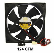 120mm 25mm New Case Fan 12V DC 124 CFM Ball 2 Pin PC Computer Cooling 12025 350*
