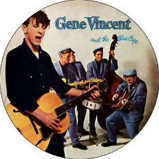 CHAPA/BADGE GENE VINCENT & THE BLUE CAPS . pin button rockabilly eddie cochran