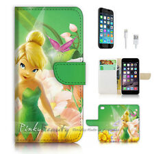 iPhone 6 6S Plus (5.5') Flip Wallet Case Cover P3015 Tinkerbell
