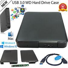 USB 3.0 SATA HDD 2.5 inch External Hard Drive Enclosure  Case Caddy Black UK