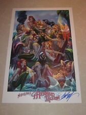 2017 ECCC MERMAID LAGOON ART PRINT SIGNED EDITION BY J SCOTT CAMPBELL  11x17