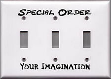 Triple Light Switch Plate Cover - Special Order