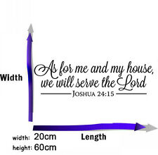 Joshua 24:15 Bible Verses Lord Quote  Wall Decal Vinyl Sticker Home Decor