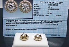 New Certified Two-Way 18 K Yellow Gold Solitaire Earrings With 1.31 CT Diamond
