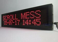 Red Programmable LED Scrolling Moving Message Sign Display Board advertise 17""