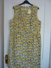 BODEN PRETTY SHIFT DRESS, YELLOW FIELD FLOWERS UK 18 REG, EUR 44-46, US 14 WH826