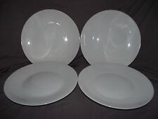 "Set of 4 Rosenthal Classic Modern White Form 2000 10 1/2"" Dinner Plates"