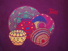 Vintage Toas Clay Art Native American Indian New Mexico 1992 90's T Shirt L