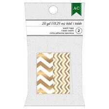 American Crafts: Gold Chevron (Wide, and Narrow); 2x Washi Tape (= 20yd Total)