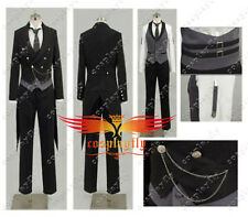 Hot Black Butler 2 Kuroshitsuji Sebastian Uniform Cosplay Costume Custom Size