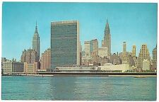 Mid MANHATTAN United Nations, Empire State  New York City Skyline NY Postcard